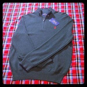 Polo Cotton Quarter Zip Sweater